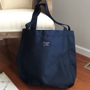 Abercrombie & Fitch Large Canvas Weekend Tote Bag